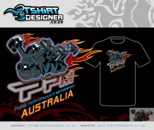 T-shirt design for Motorsports company