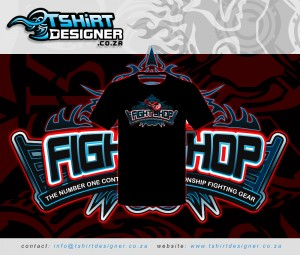 Tshirt sample for fightshop
