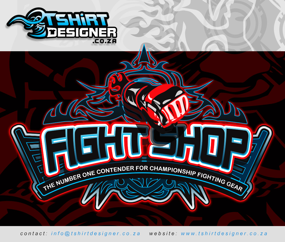 Tribal design t shirt - Fight Shop Logo T Shirt Design